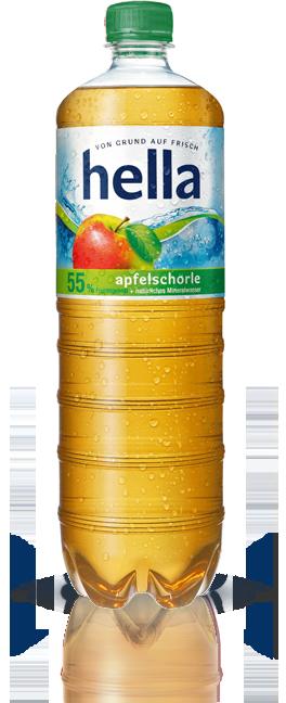 hella Apfelschorle (1,0 Liter)