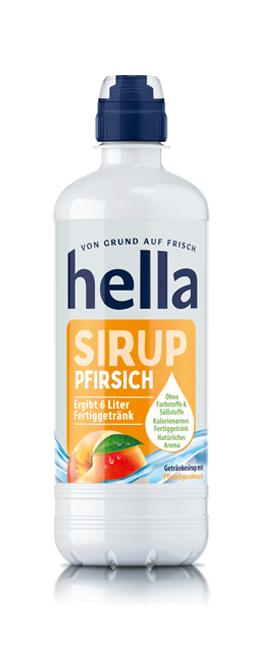 hella Sirup Pfirsich (0,5 Liter)